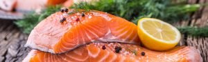 salmon - a fatty fish for healthy skin