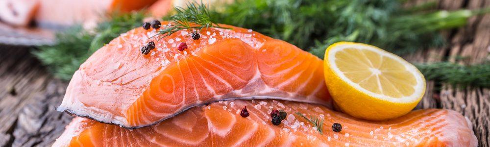 salmon - a fatty fish for healthy skin