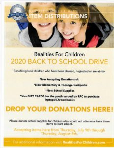 2020 back to school drive flyer